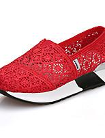 -Для женщин-Для занятий спортом Для праздника Повседневный-Тюль-На плоской подошве-Удобная обувь Пинетки-Мокасины и Свитер