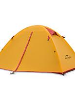 2 personnes Tente Double Tente pliable Une pièce Tente de camping Aluminium Nylon Garder au chaud Pliable-Camping