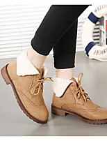 Women's Boots Winter Light Soles PU Casual Khaki Coffee