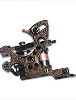 Máquina de tatuagem profissional dragonhawk 8 bobinas bobinas de ferro fundido multa forro máquina para o fornecimento de tatuagem