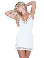 Women's Lace Lingerie Nightwear,Sexy Solid-Medium Polyester Spandex Women's