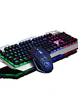 USB Gaming Backlights Key Illumination Keyboard and 2500DPI Cracking Mouse 2 Pieces a Kit