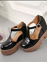 Women's Sandals Summer Mary Jane PU Casual Wedge Heel