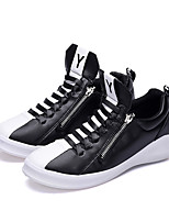 Men's Sneakers Spring Summer Fall Comfort PU Casual Flat Heel Zipper
