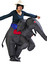 Gray Inflatable Costume Funny Elephant Performance Annual Party Hilarious Elephant Carnival Costume Event & Party Supplies