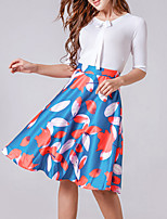 Women's Solid Blue / Red / Black SkirtsVintage / Simple Mini