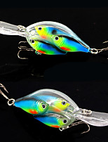 2 pcs Crank Fishing Lures Hard Bait Pink Red Blue g/Ounce,100 mm/4