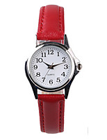 Women's Fashion Watch Quartz PU Band Red