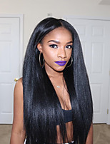 Yaki Straight Brazilian 360 Lace Frontal Wigs for Black Women 8''-22'' 360 Lace Wigs Unprocessed Human Hair 180% Density 360 Wig Natural Hairline