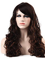 MAYSU Oblique Bangs Synthetic Curly Sleek Ritzy Women's Long Wig