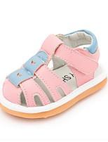 Girls' Sandals Summer First Walkers Cowhide Dress Casual Flat Heel Blushing Pink Blue White