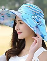 Для женщин На каждый день Шляпа от солнца,Лето Шифон С принтом