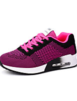 Women's Sneakers Summer Ankle Strap Tulle Outdoor Casual Fuchsia Gray Black