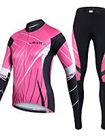 Realtoo Calça com Camisa para Ciclismo Mulheres Manga Comprida Moto Conjuntos de RoupasSecagem Rápida Resistente Raios Ultravioleta Zíper