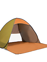 3-4 personnes Tente Unique Tente automatique Une pièce Tente de camping Fibre de verre Portable-Camping Voyage