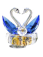 Music Box Swan Holiday Supplies Crystal Unisex
