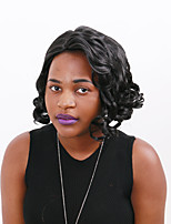 Black Color Fashion Shrot Curly Heat Resistant Capless Wig Hot Sale for African Women