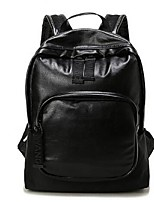 Unisex Backpack PU All Seasons Casual Black
