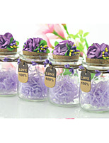 10 Piece/Set Favor Holder-Cylinder Glass Candy Jars and Bottles Non-personalised