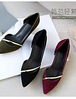 Women's Heels Spring Comfort PU Casual Nude Fuchsia Black