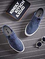 Черный Красный Синий-Для мужчин-Повседневный-ПолотноУдобная обувь-Мокасины и Свитер