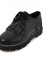 נשים-נעלי אוקספורד-סינטתי דמוי עור PU-נוחות חדשני--משרד ועבודה יומיומי מסיבה וערב-עקב וודג'