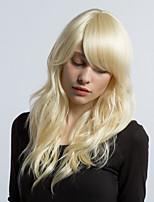 Maysu ethereal cabelo bege parcial franja cabelo sintético peruca cabelo mulher bonita