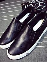 Белый Черный-Для мужчин-Повседневный-ПолиуретанУдобная обувь-Мокасины и Свитер