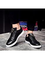 Черный Серый Землянисто-желтый-Для мужчин-Повседневный-Тюль ПолиуретанУдобная обувь-Туфли на шнуровке