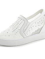 Women's Sneakers Spring Summer Creepers Fabric Outdoor Office & Career Casual Wedge Heel Rhinestone Walking