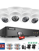 ANNKE® 4CH 4PCS TVI 720P HD Video Monitor 4in1 DVR P2P TVI Outdoor Indoor Camera Weatherproof Surveillance System 1TB
