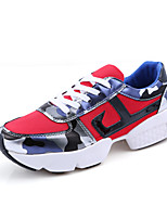 Women's Athletic Shoes Spring Fall Comfort Light Soles Suede Tulle Outdoor Athletic Casual