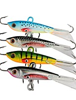 4 pcs Metal Bait Jigs Fishing Lures Jigs Metal Bait Jig Head Assorted Colors g/Ounce,60 mm/2-3/8
