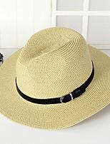 Unisexe Rétro Mignon Soirée Travail Décontracté Paillette Chapeau de Paille Chapeau de soleil,SolidePrintemps Eté Automne Toutes les