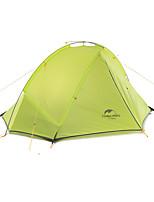 1 personne Tente Double Tente pliable Une pièce Tente de camping Aluminium Nylon Silicone Pliable Portable-Camping Extérieur-Vert