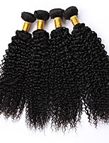 Natural Color Hair Weaves Burmese Texture Kinky Curly 12 Months 4 Pieces hair weaves