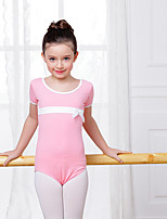 Ballet Leotards Kid's Cotton Spandex 1 Piece Leotard