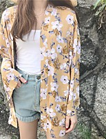 Women's Casual/Daily Simple Blouse,Floral V Neck ½ Length Sleeve Others