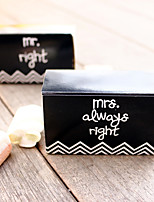 12 Piece/Set Favor Holder - mr. right & mrs always right Paper Favor Box 8 x 5 x 3 cm/pcs Beter Gifts® Wedding Decorations