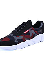 Men's Athletic Shoes Spring Summer Fall Light Soles Canvas Outdoor Athletic Lace-up Black Red Grey