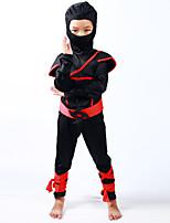 Fantasias de Cosplay Ninja Cosplay de Filmes Collant/Pijama Macacão Peça para Cabeça Corda Dia Das Bruxas Carnaval Dia da Criança Ano Novo