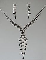Жен. Ожерелья-цепочки Стразы Бижутерия Для Свадьба Для вечеринок Особые случаи День рождения Обручение 1 набор