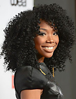 Fashion Kinky Curly Lace Front Wig 130%density Brazilian Virgin Hair Short Bob Wigs For Black Woman with Baby Hair Natural Color 8-26inch