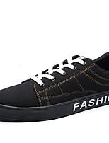 Черный и золотой-Для мужчин-Повседневный-ПолиуретанУдобная обувь-Кеды