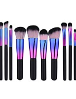 1set Powder Brush Foundation Brush Nylon Portable Travel Eco-friendly Professional Full Coverage Aluminum WoodMen Face Women Men and