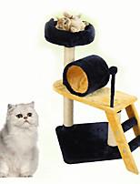Cat Toy Interactive Climbing Rack Durable Wood Plush Blue