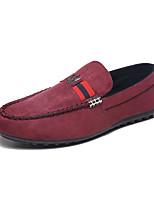 Черный Красный Синий-Для мужчин-Для прогулок Для офиса Повседневный-Флис Дерматин-На плоской подошве-Удобная обувь Светодиодные подошвы-