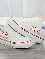 Белый Черный-Для мужчин-Повседневный-ПолотноУдобная обувь-Кеды