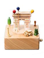 Music Box Square Famous buildings Model & Building Toy Wood Unisex