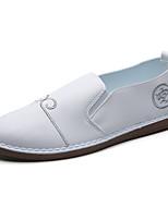 Белый Черный-Для мужчин-Для прогулок Повседневный Для занятий спортом-Полиуретан-На плоской подошве-Удобная обувь Мокасины Баллок обувь-